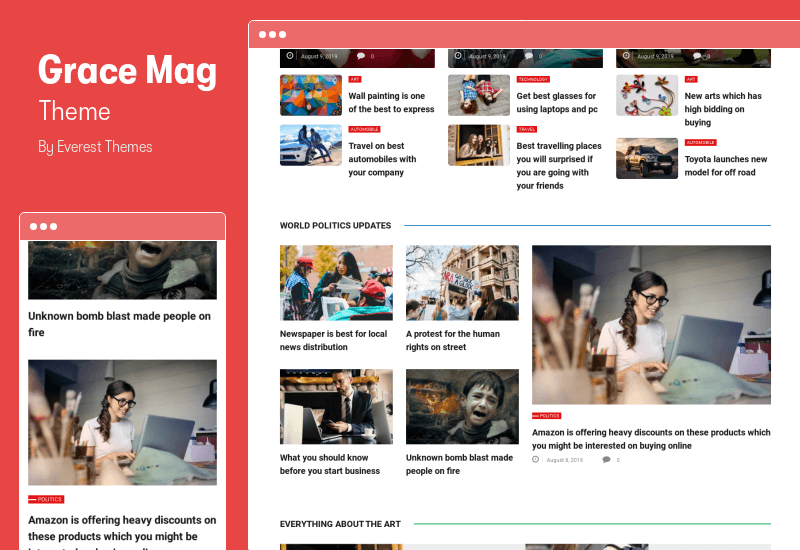 Grace Mag Theme - WordPress Newspaper Theme