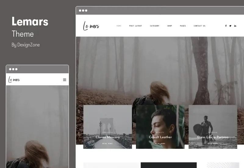 Lemars Theme - Personal Blog WordPress Theme