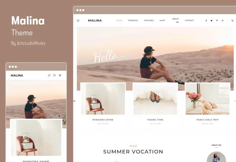 Malina Theme - Personal WordPress Blog Theme