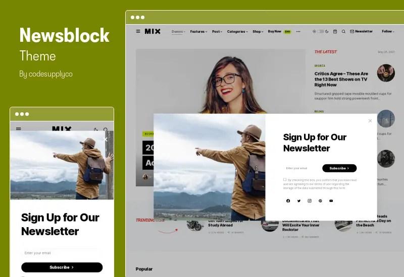 NewsBlock Theme - News & Magazine WordPress Theme with Dark Mode