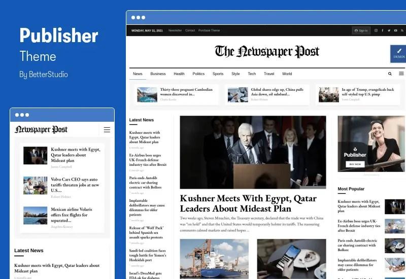 Publisher Theme - Multi-Purpose Magazine WordPress Theme
