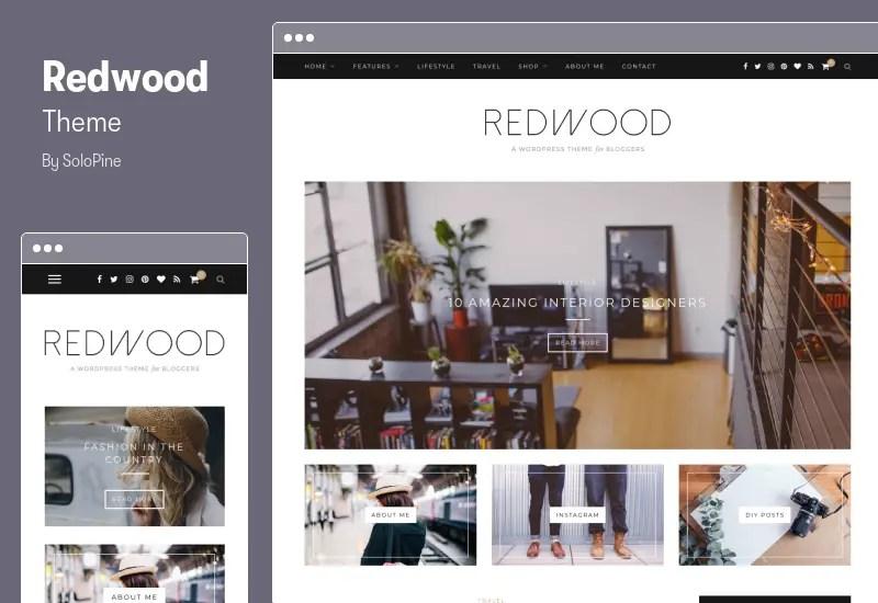 Redwood Theme - A Responsive WordPress Blog Theme