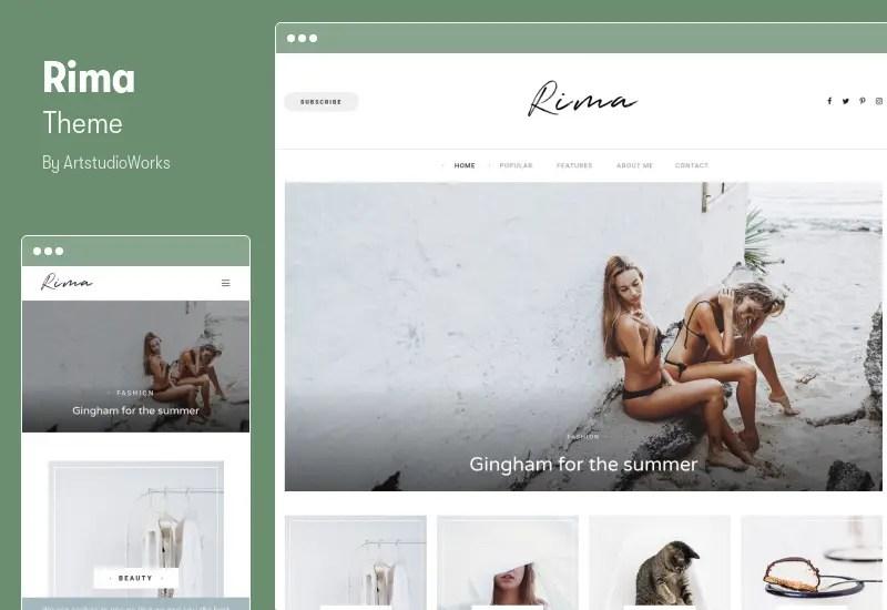 Rima Theme - Personal Blog WordPress Theme