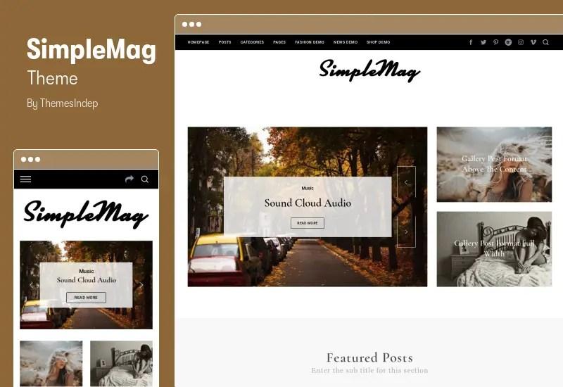 Simple Mag Theme - Magazine theme for creative stuff