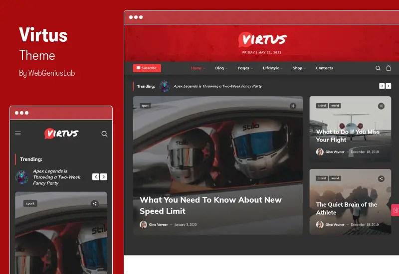 Virtus Theme - Modern Blog & Magazine WordPress Theme