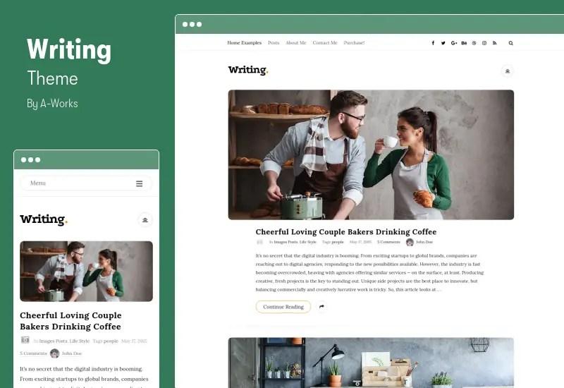 Writing Theme - Personal Blog WordPress Theme