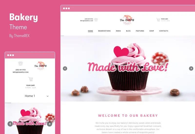 Bakery  Theme - Cake Shop & Cafe WordPress Theme