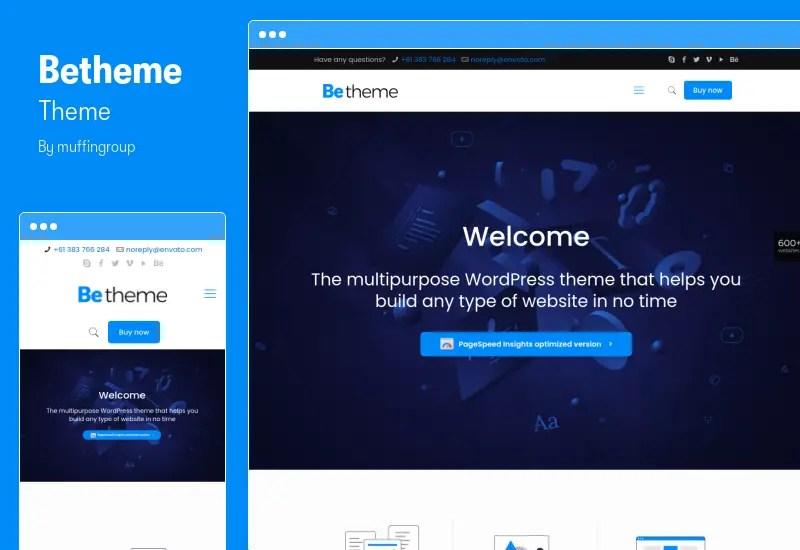 BeTheme Theme - Limitless Website Builder for WordPress