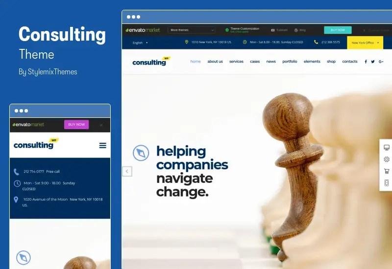 Consulting Theme - Finance Elementor WordPress Theme