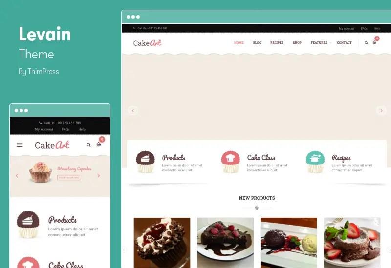 Levain Theme - Cake WordPress Theme