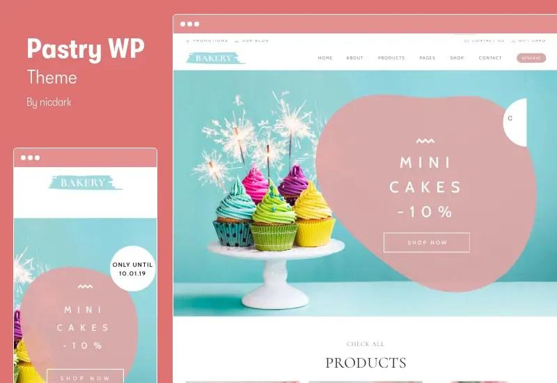 Pastry WP Theme - Cake Bakery WordPress Theme