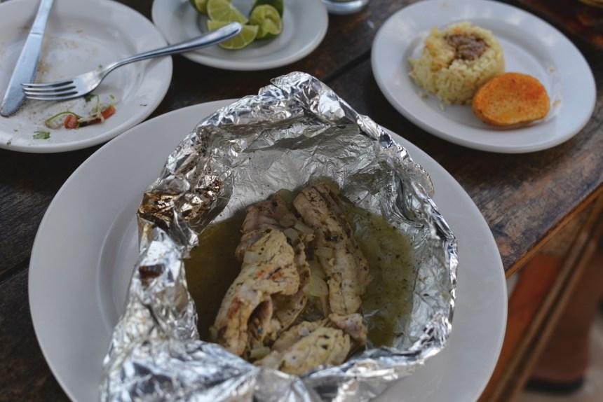 Celestun beach seafoods