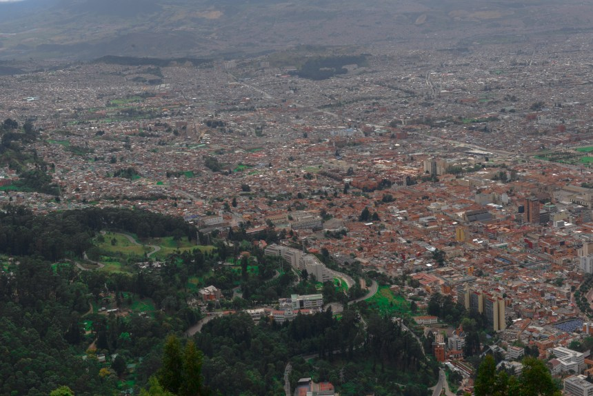 travel in bogota colombia Monserrate top
