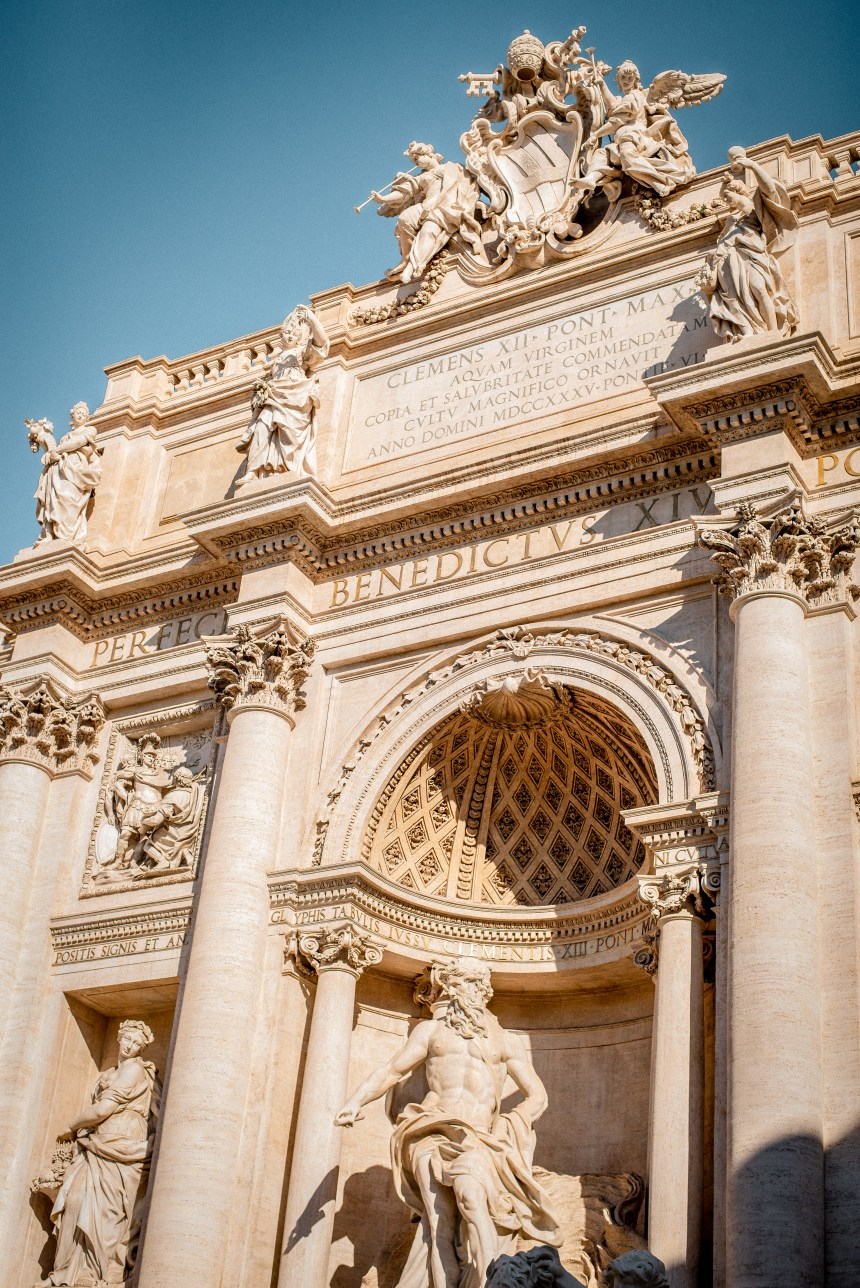 Rome itinerary Trevi fountain-Listing the most photogenic places in Rome