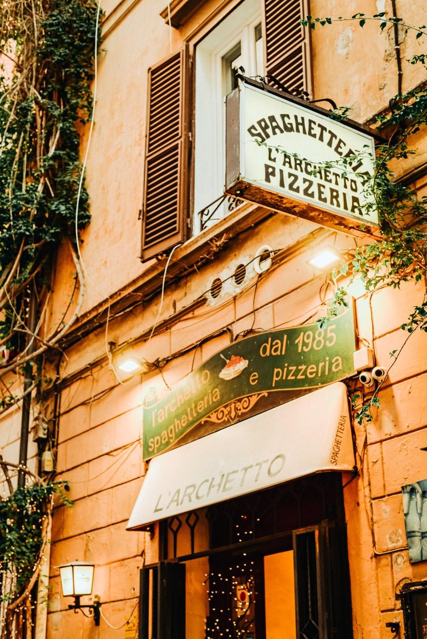 Spaghetteria l'Archetto Rome pasta place recommend