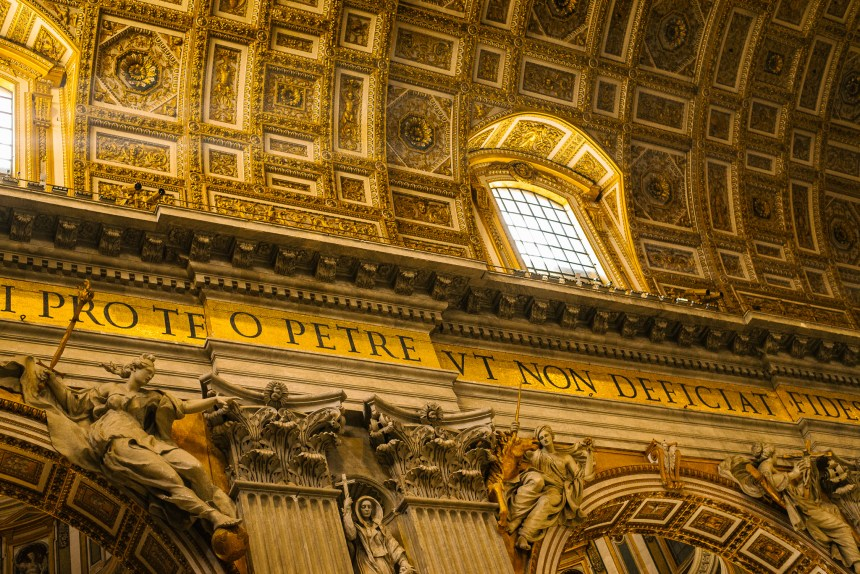 St Peter's Basilica gold inside