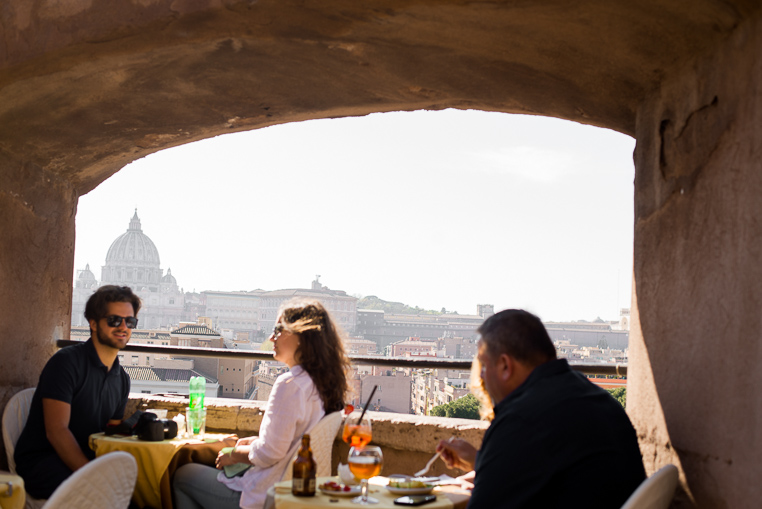 cafe at Castel Sant'Angelo