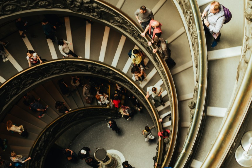 spiral stairs Giuseppe Momo in Vatican museum
