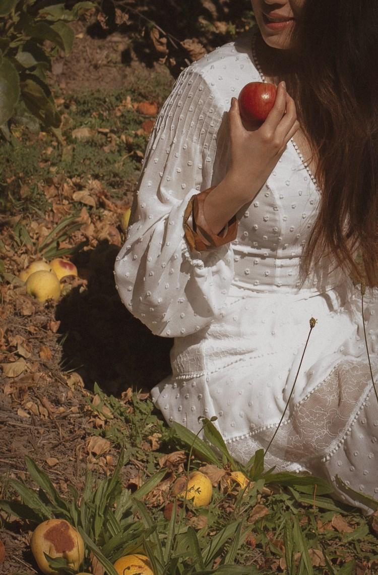 apple white dress california