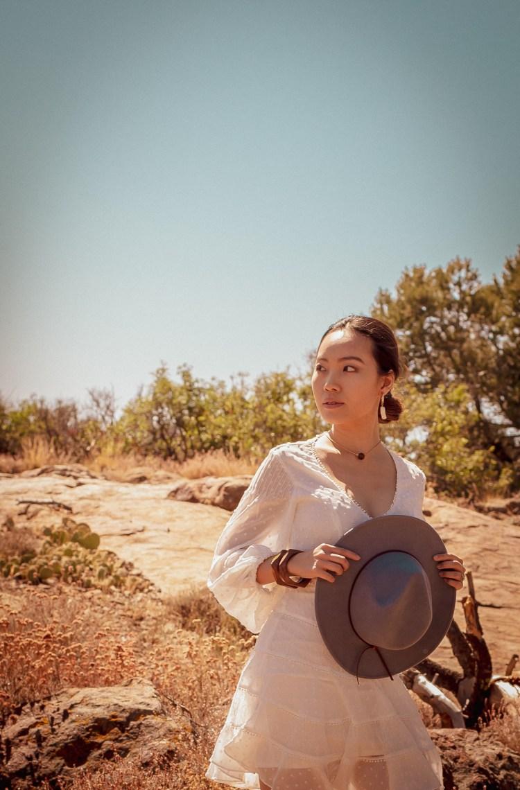Bardot white dress Anthropologie Blanche Rancher OOTD california