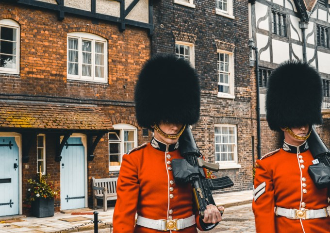 royal guards in Tower of London