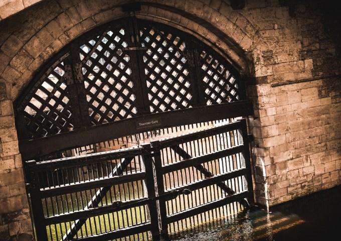 Traitor's gate in Tower of London
