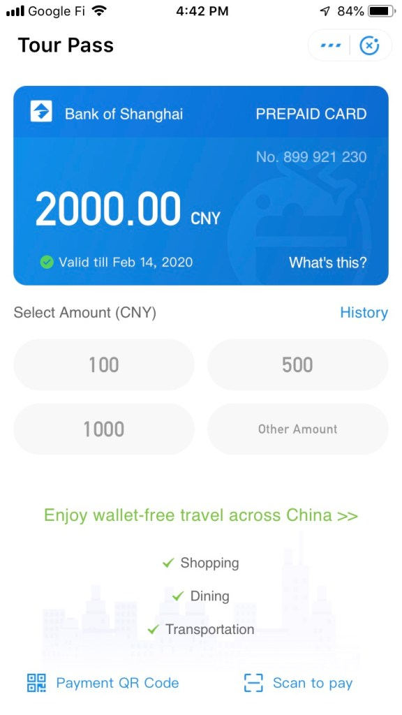 useful travel guide for China trip Alipay