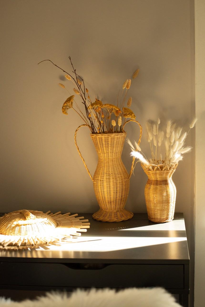 craftsmanship house styling rattan vase