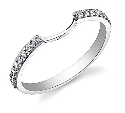 Matching wedding band for Halo Engagement ring BetterThanDiamond