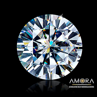 Amora enhanced Moissanite