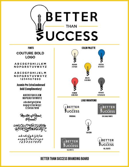 Branding Board for Better Than Success