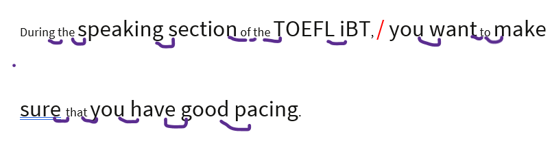 TOEFL blending example