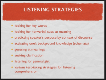 TOEFL listening test-taking strategies