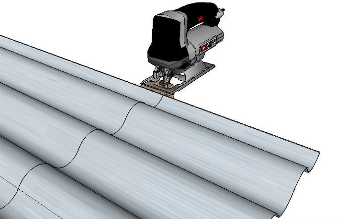 Cutting Metal Roofing With Jigsaw
