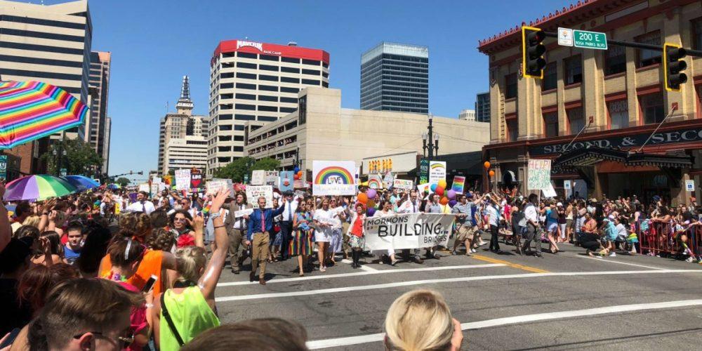 Mormon Building Bridges in Salt Lake Pride Parade 6.3.18