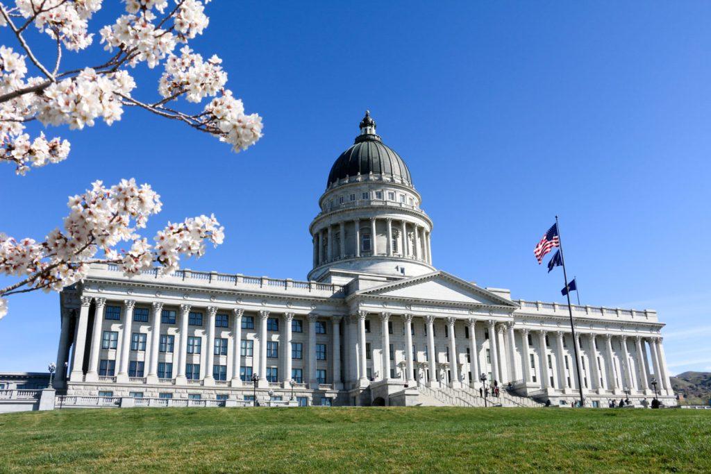 Utah Capitol in Spring