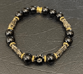 Black Onyx Fish Brace;et