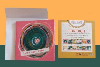 Lebe-glücklich Collage - Lebensfreude. Ein 12-seitiges Leporello zum Aufstellen für mehr Achtsamkeit und Lebensfreude im Alltag. Für Dich. Zum Verschenken.