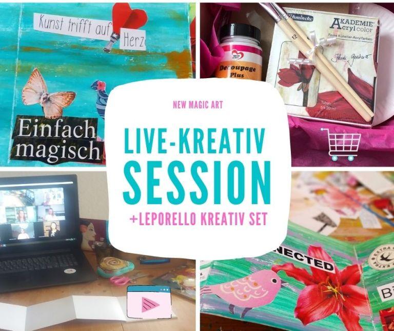 Live-Kreativ Session Visionboard To Go - inklusive dem Magischen Koffer & Leporello Kreativ Set