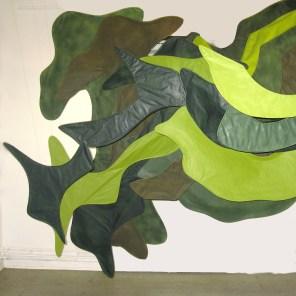 Schwarzwaldgrün 2009, 280 x 220 x 300cm, Papier, Rattan, Klebeband, und Acryllack