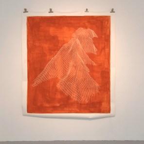 »Die drei Belchen (Ballon d'Alsace)« Papier, Acryl, 2017, 170 x 150 cm