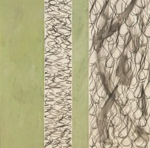 Z1 - Serie, 2007, Tusche, Öl, Ölpapier, 20 x 20cm