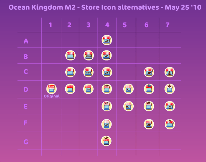 Ocean Kingdom - Tool icons wip