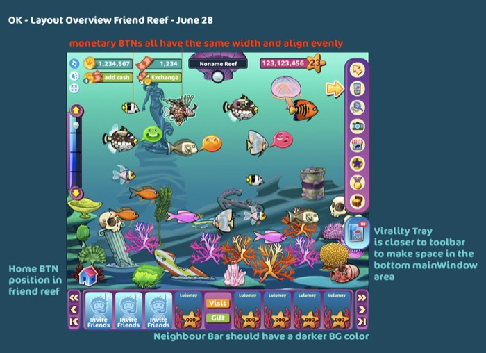 Ocean Kingdom - Friend Reef tools and navigation