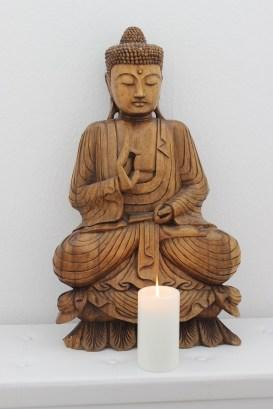 Buddha im Eingangsbereich