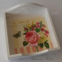 Serwetnik w róże