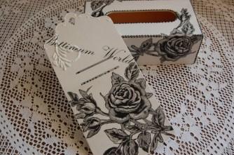 Zawieszka na kalendarz z czarną różą (sprzedana, mozna zamówić podopbną)