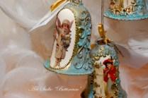 Bombka szklana dzwonek w stylu antycznym. Wielkość 7 cm