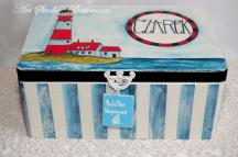 Pudełko wspomnień Czarek, malowane ręcznie