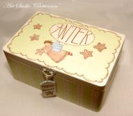 Pudełko wspomnień Antek, malowane ręcznie
